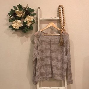 [Altar'd State] Brown Long Sleeve Sweater